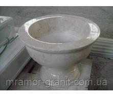 Чаша из белого мрамора СЛЛМ - 13