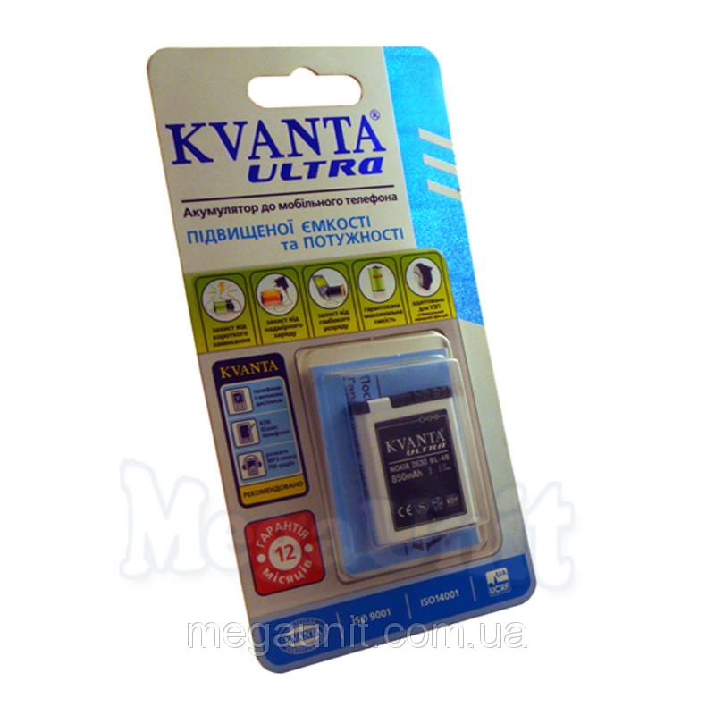 Усиленный аккумулятор KVANTA. Nokia BL-4B ( 5500, 7370 ) 850mAh