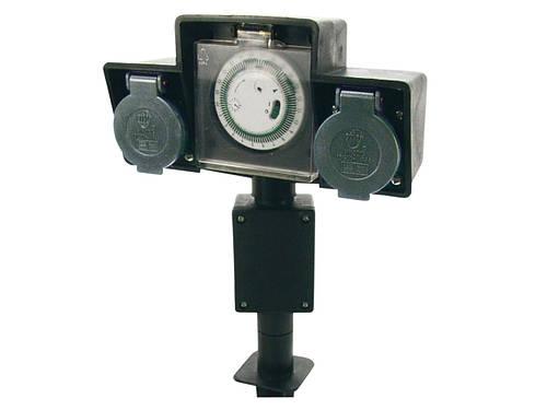 Наземный электрораспределитель на 2 выхода с таймером