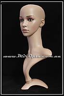 """Манекен силиконовый """"Голова Европейская с бюстом, реалистичная"""" (25 x 25 x 50 см.)"""