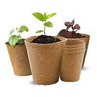 Стаканы торфяные  для выращивания рассады Jiffy 6*6 см, круглые
