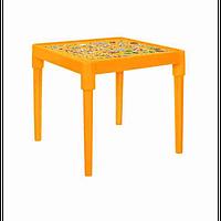 """Детский пластиковый столик """"Абетка"""" (оранжевый) арт. 100027"""