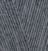 Пряжа Alize lanagold 800 средне-серый меланж