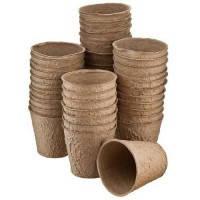 Стаканы торфяные  для выращивания рассады Jiffy 8*8 см, круглые