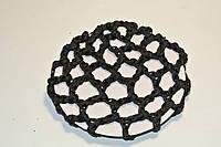 Сеточка для волос на гульку крупное плетение черный
