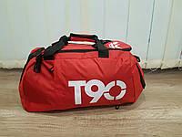 Спортивная тканевая сумка-рюкзак. Красная