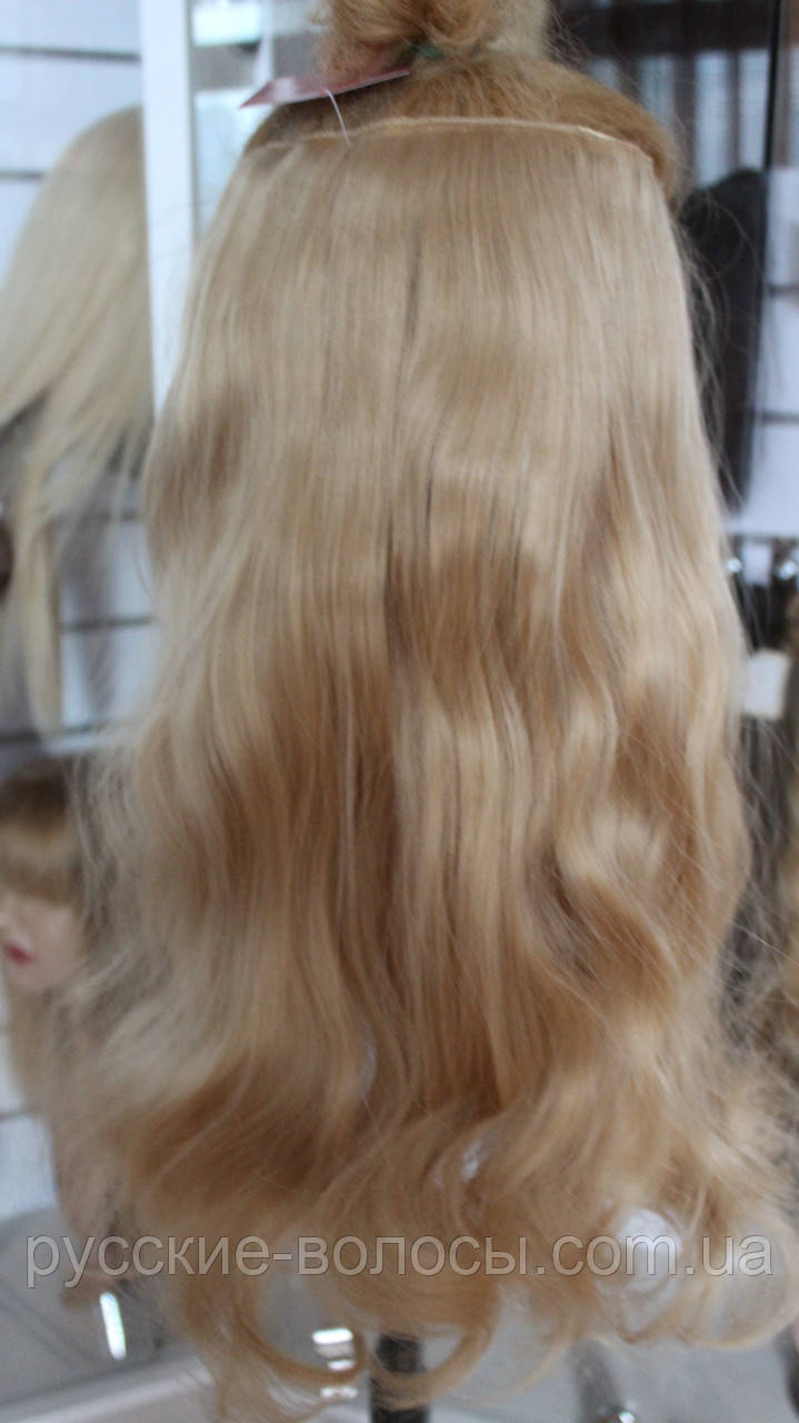 Искусственные волосики на заколках волнистые
