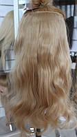 Искусственные волосики на заколках волнистые, фото 1