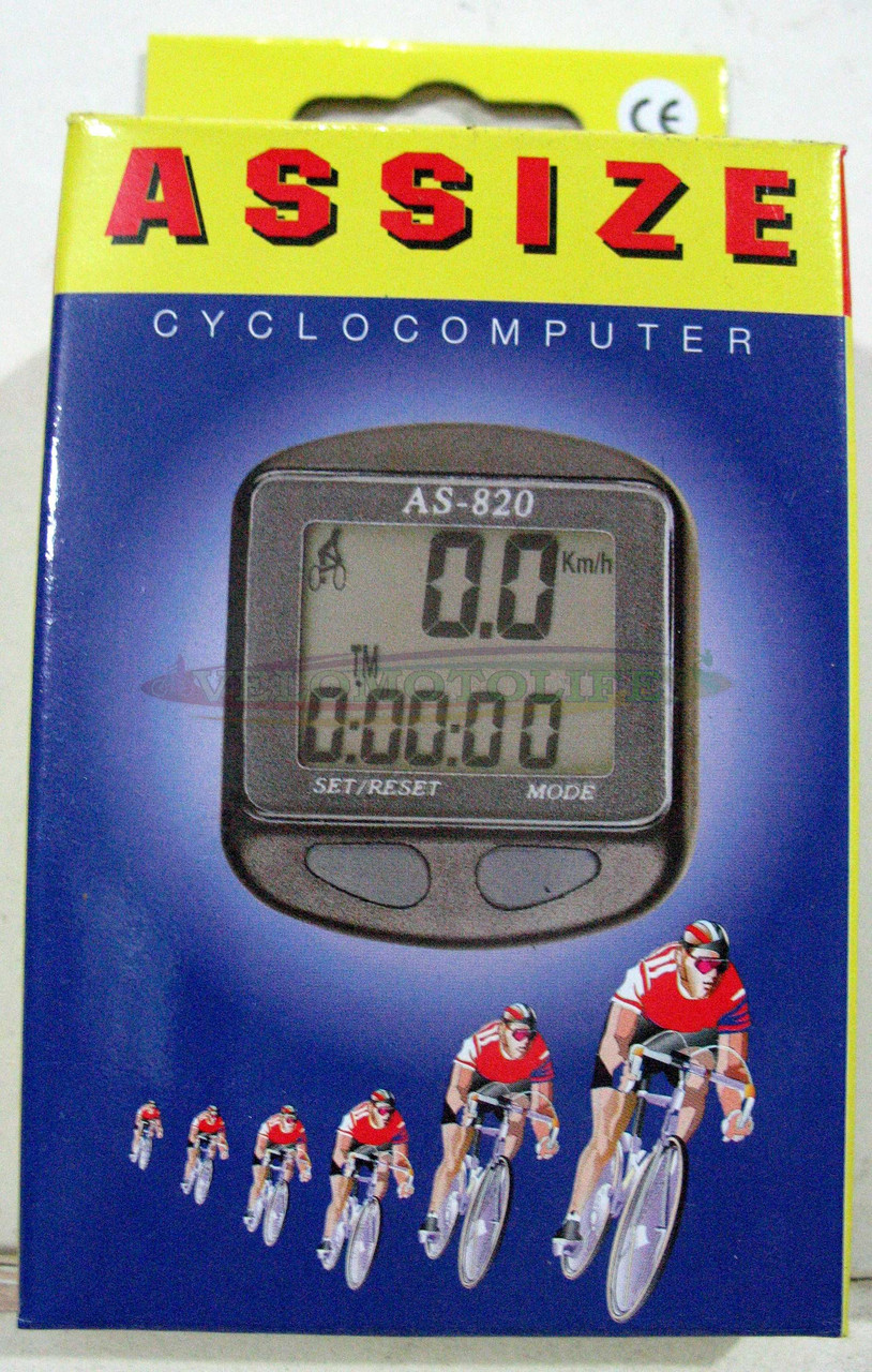 Велокомпьютер ASSIZE AS-820  проводной (11 режимов)