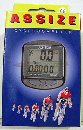 Велокомпьютер ASSIZE AS-820  проводной (11 режимов), фото 2