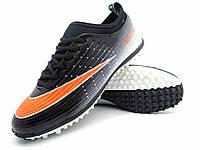 Футбольные сороконожки Nike Mercurial Victory TF Black/Orange/White, фото 1