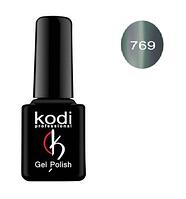 Гель-лак Kodi Moon Light №769 с эффектом кошачий глаз (пастельный серо-голубой с шиммером) 8мл