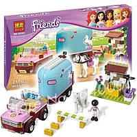 """Конструктор Bela Friends 10161 """"Эмма и трейлер для её лошадки"""", 217 деталей"""