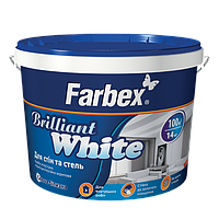 """Краска для стен и потолков белоснежная """"Brilliant White"""", 14 кг."""