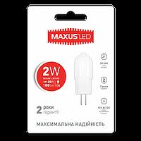 Лампа LED MAXUS G4 2W 3000K 12V AC/DC (1-LED-207)