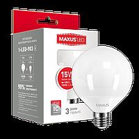 Лампа LED MAXUS G95 15W 3000K 220V E27 (1-LED-903)