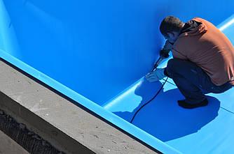 Пайка пленки ПВХ для бассейнов