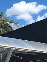 Солнечные батареи на мойке самоосблуживания