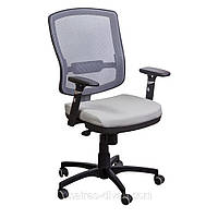 Кресло Коннект сиденье к/з Неаполь-23/спинка Сетка серая.