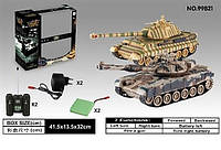 Танковый бой 99821, 2 пульта, 2 аккумулятора, танковое сражение, в коробке, звук, свет, 1:28, подарок