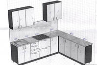 Угловая кухня на заказ фасады пленочный МДФ
