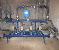 Насосная станция повышения давления на базе четырёх насосов PEDROLLO и приборов частотного регулирования SIRIO