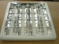 Светильник накладной с зеркальной параболической решеткой 4X18 IP20 220-240V 50/60 Hz