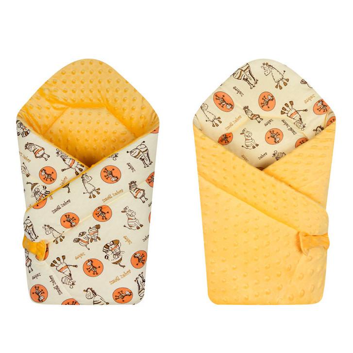 Двустороннее конверт-одеяло на выписку Minky Zebra 671, Duetbaby