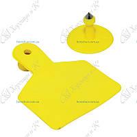 Ушная бирка безномерная желтая 84*72 мм