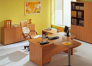 Офисная корпусная мебель: кабинеты, столы, шкафы, стеллажи (дсп, мдф, дерево)