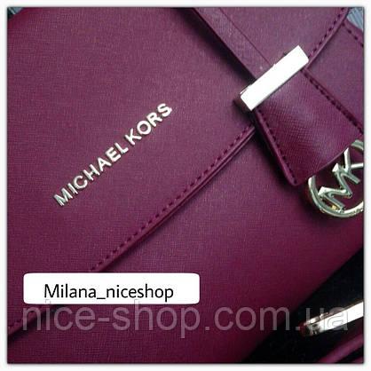 Люкс-копия Michael Kors Ava марсал, фурнитура серебро, фото 3