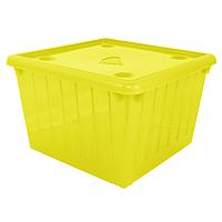 Ящик для игрушек с крышкой (желтый) арт. 122043