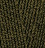 Пряжа Alize lanagold 800 оливковый