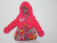Куртка для девочки демисезонная 06-2 лет с капюшоном
