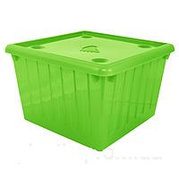 Ящик для игрушек с крышкой (салатовый) арт. 122043