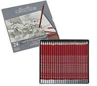 Карандаши простые CRETACOLOR набор 24шт в метал коробке Cleos 16024, Киев