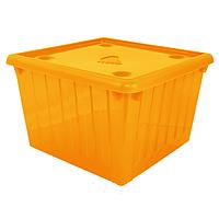 Ящик для игрушек с крышкой (оранжевый) арт. 122043