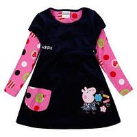 Велюровое платье свинка  Пеппа