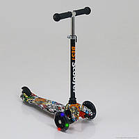 """Самокат трехколесный  """"Best Scooter"""" 1286, свет. колеса PU, 8 цветов, трубка руля алюминиевая"""