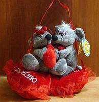"""Мягкая музыкальная игрушка LS25631 """"Мышки на сердце"""", подарок на день Валентина, мягкие игрушки детские"""