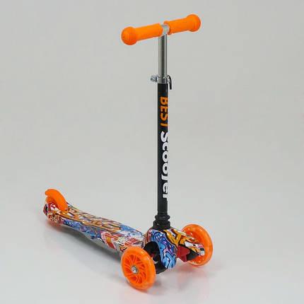 "Самокат трехколесный  ""Best Scooter"" 1289, свет. колеса PU, 8 цветов, трубка руля алюминиевая, фото 2"