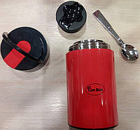 Пищевой красный термос Con Brio на 850 мл.