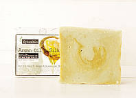 Натуральное оливковое мыло с маслом Арганы и Шелком (E&A Pure Beauty), 95g., Греция, фото 1
