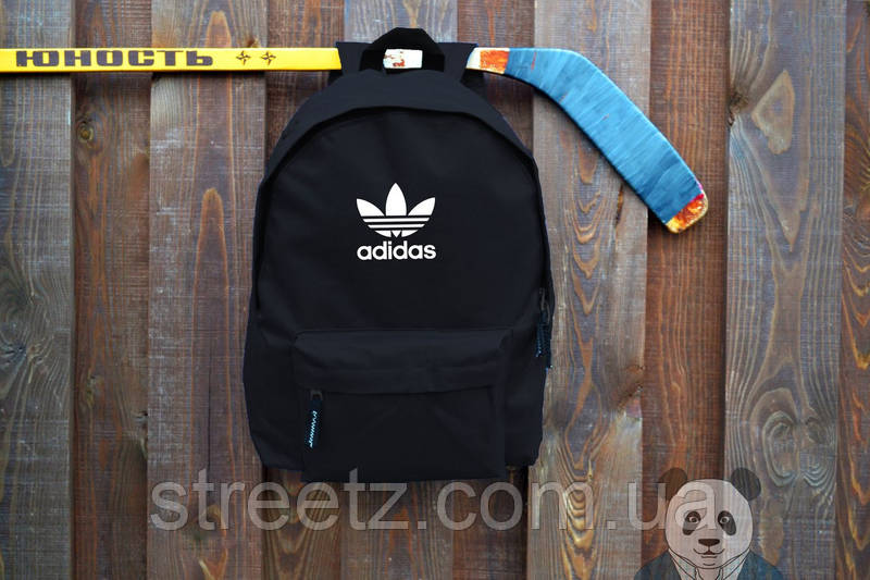 Рюкзак черный мужской Adidas, портфель городской