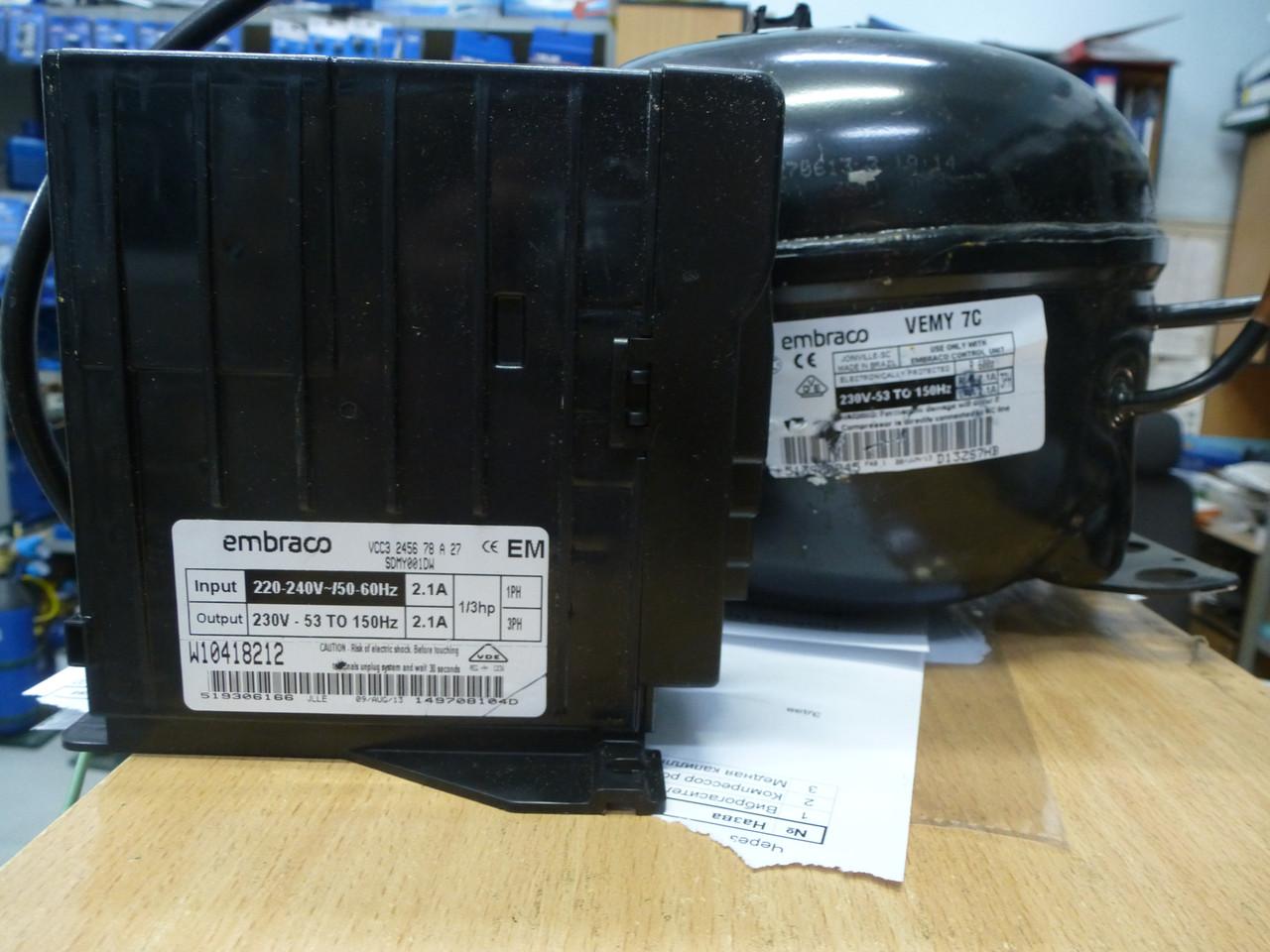 Компрессор EMBRACO VEMY 7 C (R-600) INVERTER - фото 2