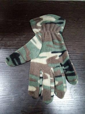 Зимние камуфляжные перчатки Флисовые на - 15С