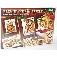 Набор для выжигания по дереву + художественное тонирование, ТМ Danko Toys Украина.