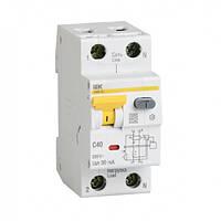 Автоматический выключатель дифференциального тока АВДТ32М В10 30мА ИЭК. IEK