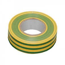 Изолента 0,13х15 мм желто-зеленая 10 метров ИЭК IEK