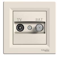 Розетка ТВ-SAT конечная Крем Asfora Schneider Electric, EPH3400123